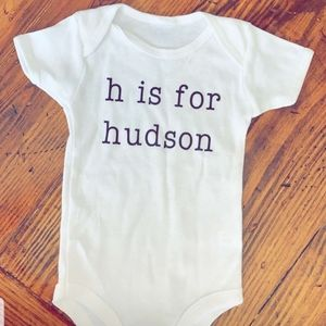 Infant personalized onesie